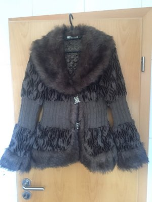 Fake Fur Jacket grey-grey brown