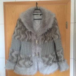 Fake Fur Jacket light grey-grey