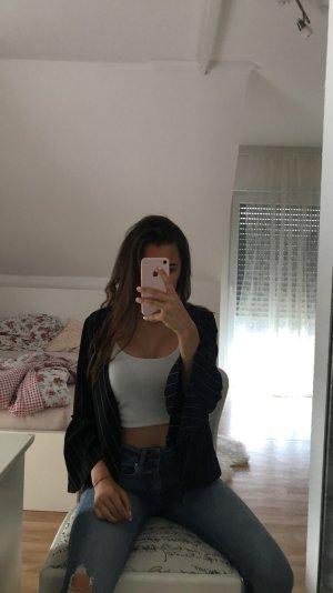 Veste mi-saison noir-blanc