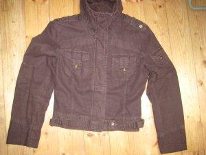 Schöne Jacke im Biker style braun Größe 38