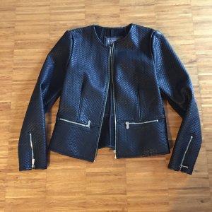 Schöne Jacke im Lederlook von Esprit, Gr 40 Schwarz