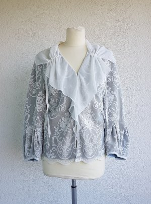 KRISS Kanten blouse room-lichtblauw Polyester