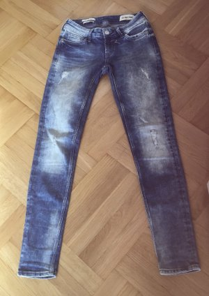 Rich & Royal Skinny jeans leigrijs
