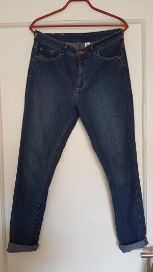 Hoge taille jeans blauw Katoen