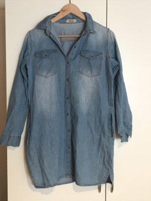 Chemise à manches longues bleuet