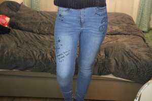 H&M High Waist Jeans multicolored