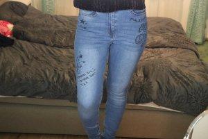 H&M Jeans a vita alta multicolore