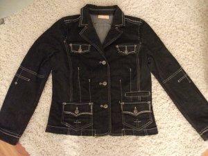 schöne Jeans Jacke von BIBA, Gr. 36, schwarz - fast neu