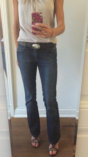 Zara Woman Boot Cut spijkerbroek donkerblauw Katoen
