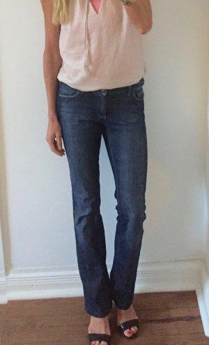 Zara Woman Jeans svasati blu scuro Cotone