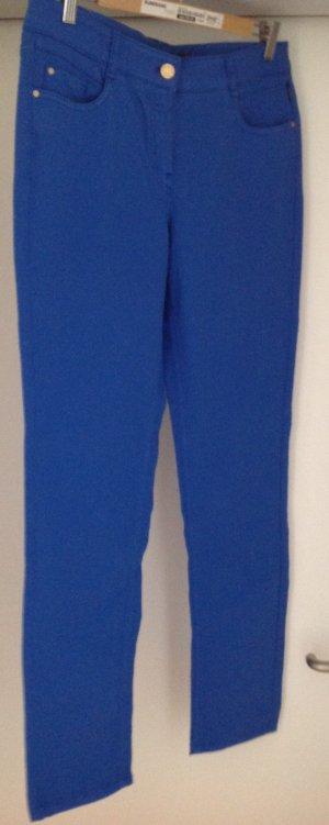 Schöne Jeansartige Stoffhose in Königsblau