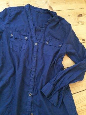 Schöne jeansblaue Bluse/ Tunika