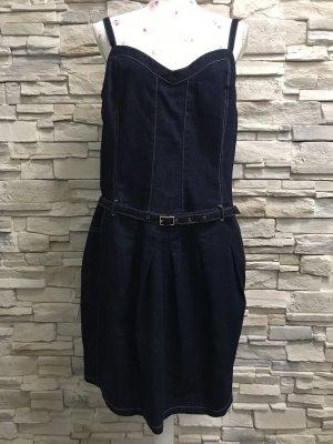 Apart Denim Dress dark blue
