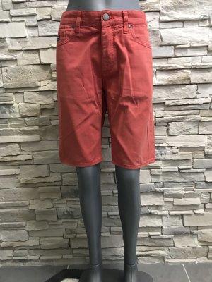 Pantaloncino di jeans rosso chiaro-rosso mattone