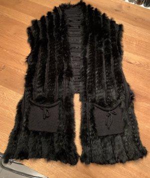 Milestone Smanicato di pelliccia nero