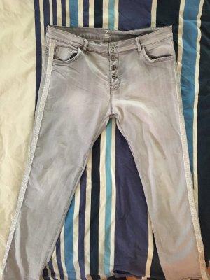 Z One Jeans carotte gris clair