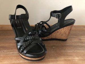 5th Avenue Sandalo con plateau nero-color cammello