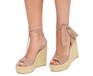 schöne Keilabsatz Schuhe