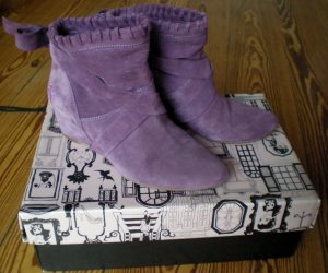 Killah Slouch Booties dark violet suede