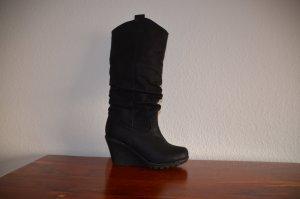 schöne Keilstiefel schwarz 39 Jumex Keil Stiefel