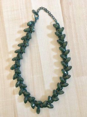Zara Statement Necklace dark green-forest green