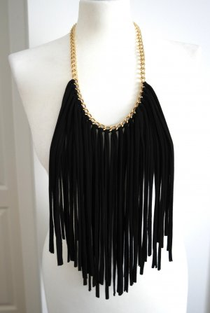 Necklace gold-colored-black