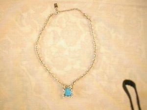 Collana argento-blu neon Acciaio pregiato