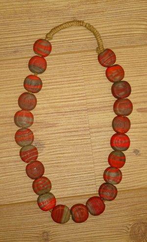 Necklace multicolored glas