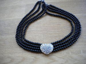 Collier bordeaux-zilver