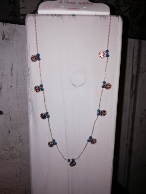 Gold Chain rose-gold-coloured-steel blue