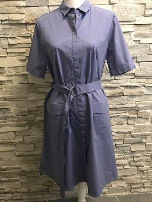 Abito blusa camicia blu-viola