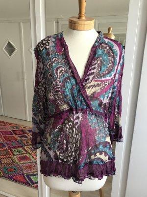 Liberty Blusa de túnica multicolor tejido mezclado