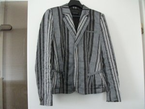 schöne Kurz Jacke / Kurz Blazer von Blacky Dress, Gr. 36, grau-silber