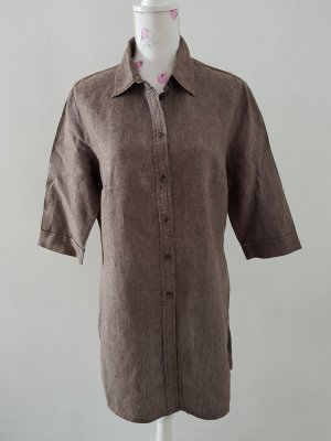 Marco Pecci Short Sleeve Shirt grey brown