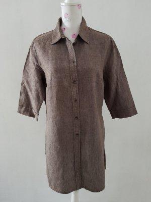 Marco Pecci Camicia a maniche corte marrone-grigio