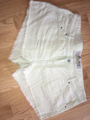 Primark Short moulant turquoise coton