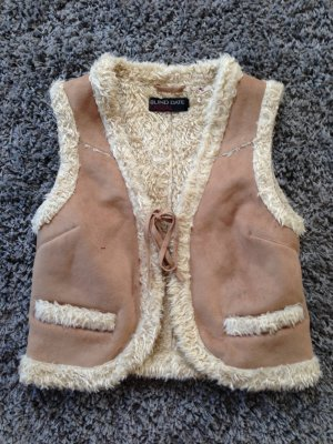 Blind Date Fur vest light brown-beige