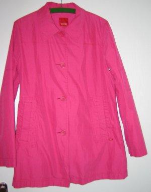 Esprit Chaqueta larga rosa tejido mezclado