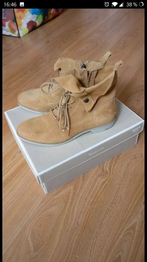 Schöne, lässige Stiefel / Boots von Tamaris,*NEU*, Wildleder, braun, Gr. 38