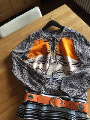 Schöne Langarm-Bluse von Comma im Ethno-Style, Gr. 38, aus Viskose.