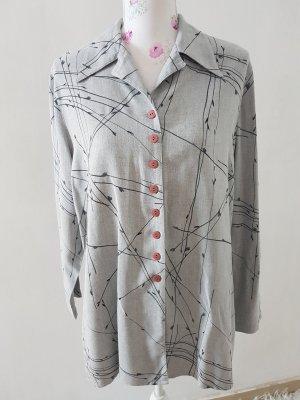 Camicia a maniche lunghe nero-grigio