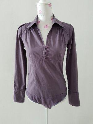 Vero Moda Blusa tipo body lila grisáceo