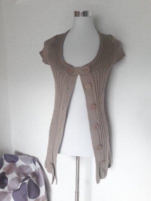 Tara Short Sleeve Knitted Jacket beige