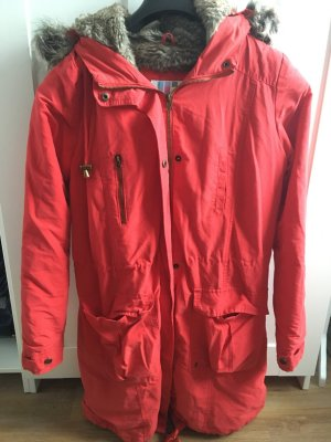 AJC Winter Jacket brick red mixture fibre