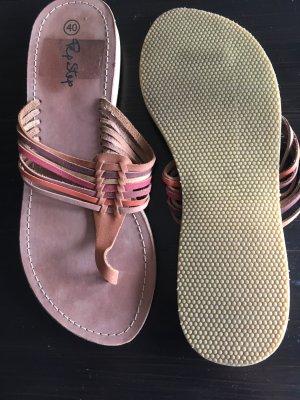 Schöne Leder Flip Flops