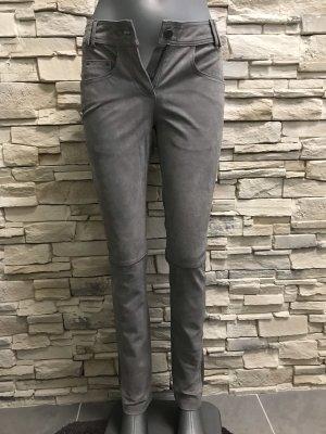 rick cardona Pantalone in pelle argento-grigio