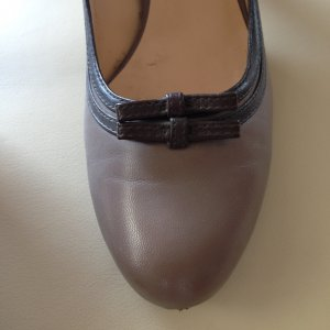 Belmondo High Heels grey brown-taupe