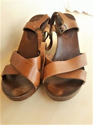 Görtz Wedge Sandals multicolored leather