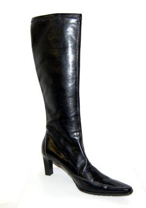 schöne - Leder - Stiefel in schwarz von Paul Green - Gr. 42