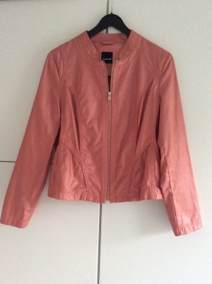 Taifun Faux Leather Jacket bright red